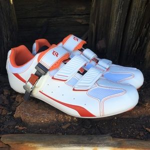 Peloton White Cycling Spinning Shoes + new cleats